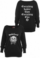 Ladies Motorhead Everything Louder Wideneck Crewneck