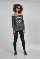 Ladies Motorhead Logo Burnout Open Edge Crewneck