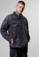 ALLDD Flanneled Trucker Denim Jacket