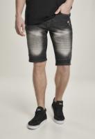 Biker Denim Shorts
