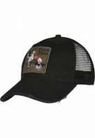 C&S WL Favela Fights Distressed Curved Trucker Cap